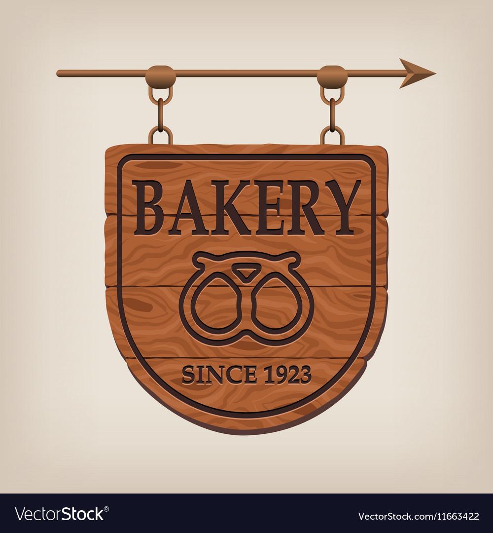 Vintage Wooden Bakery Sign Bakery