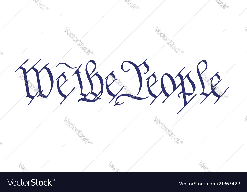 We The People Royalty Free Vector Image