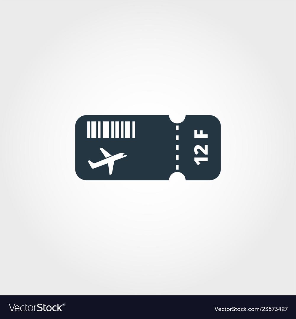 Airplane ticket creative icon simple element