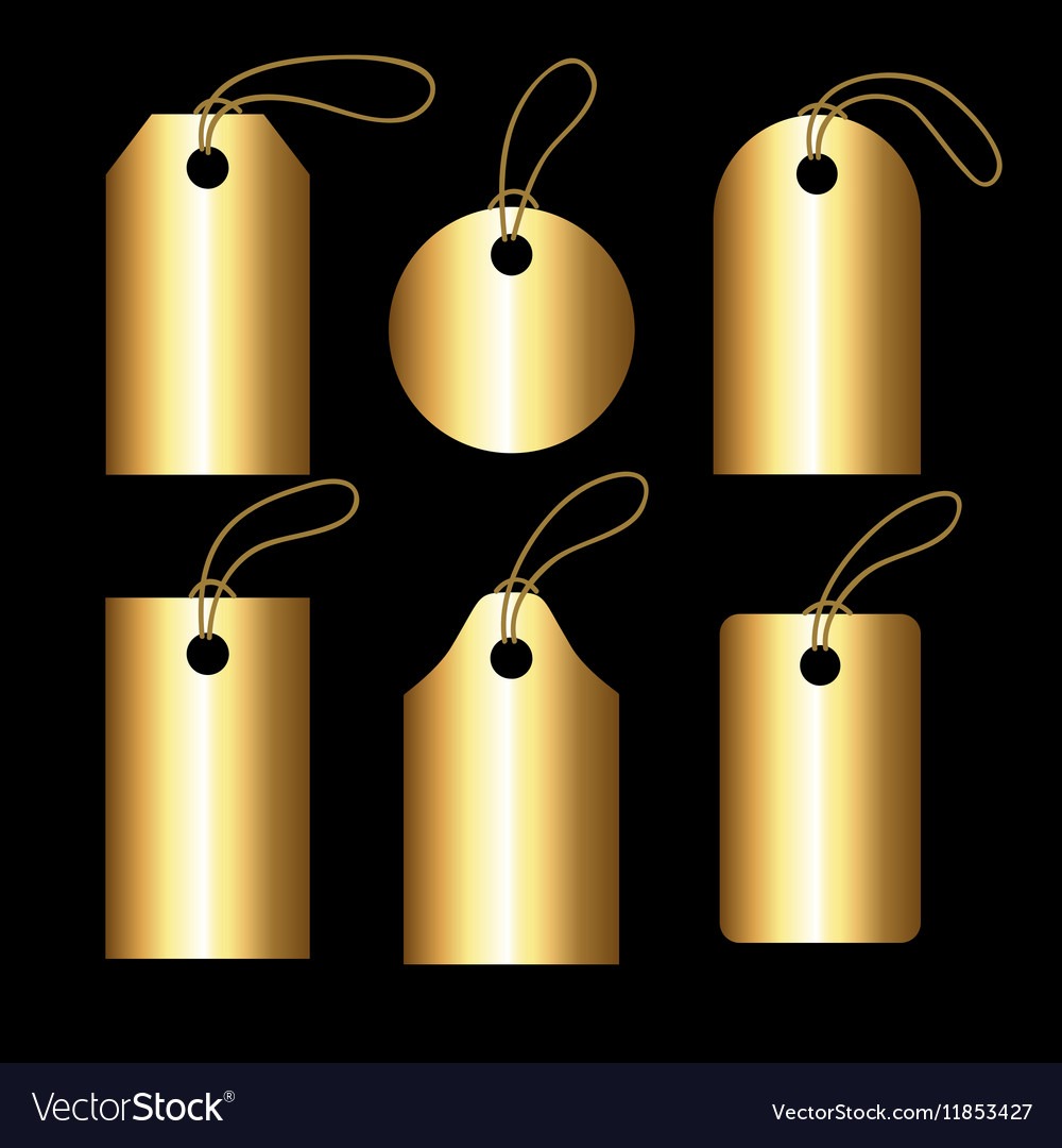 Collection of golden gradient tegs