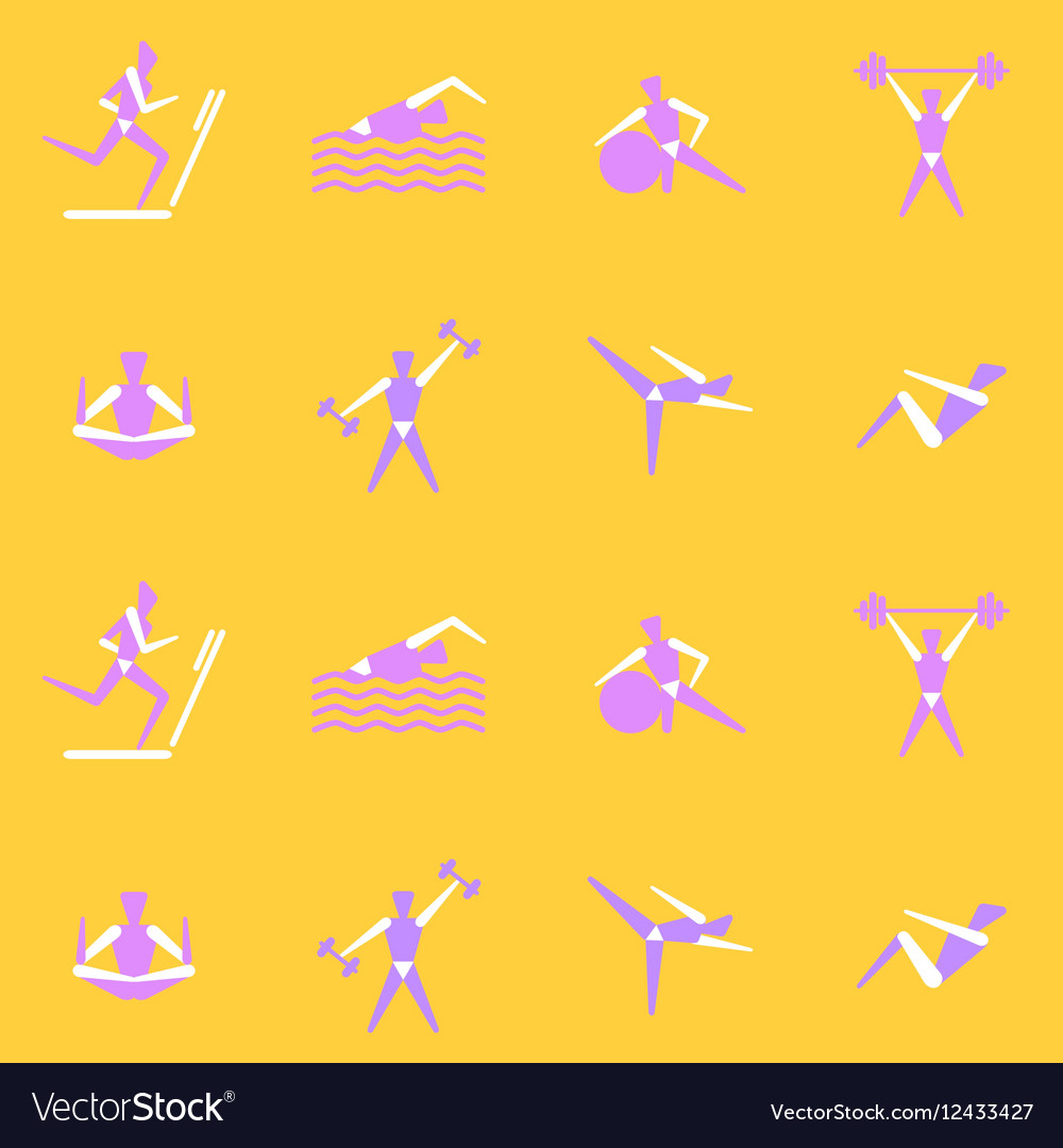 Endless Background On A Theme Sports Vector Image