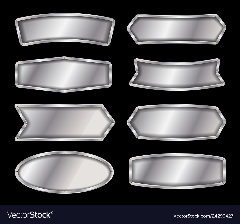 Metal sign isolated on black background
