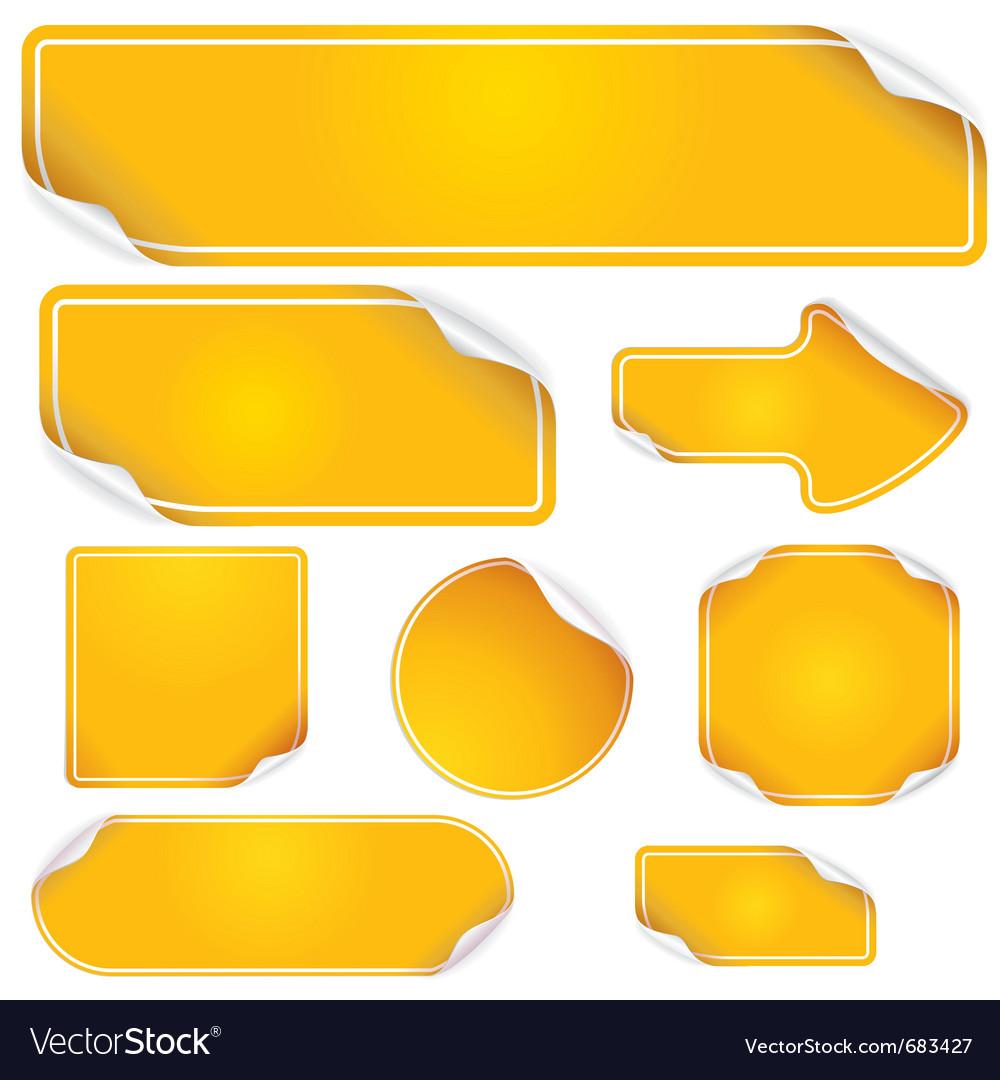 Orange labels vector image