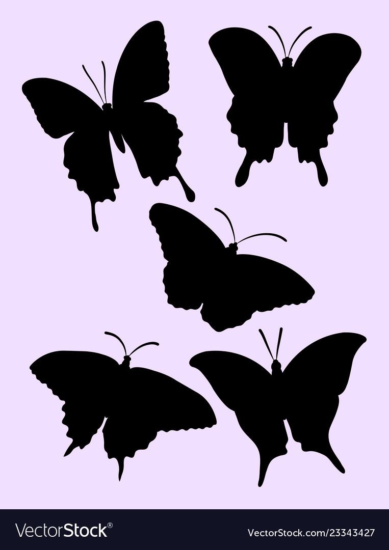 Pretty butterfly silhouette