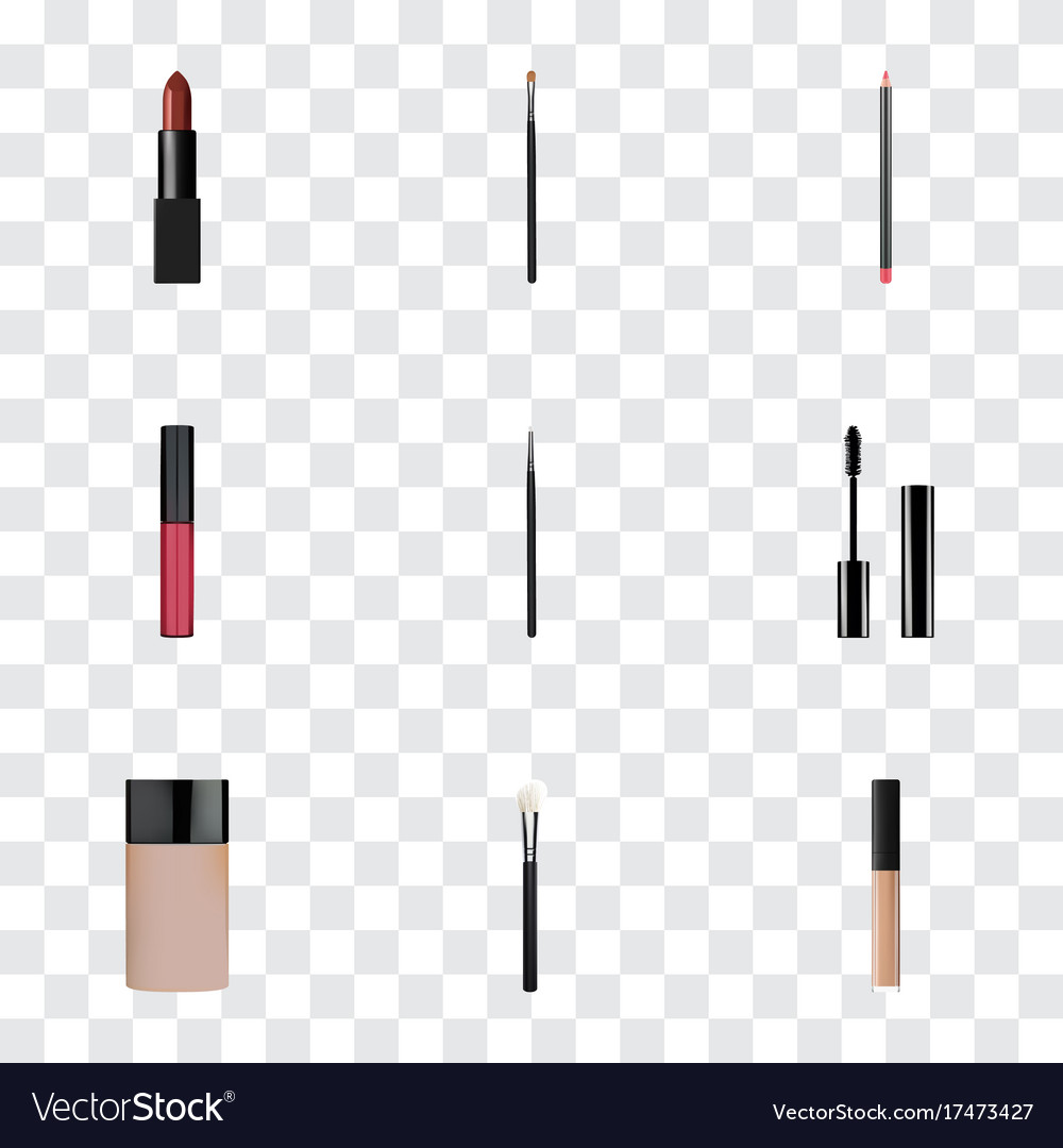 Realistic mouth pen cosmetic stick concealer and vector image