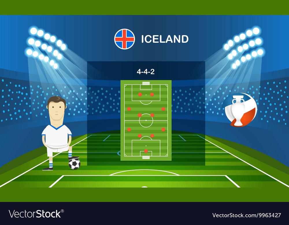 Soccer team arrangement Football infographic