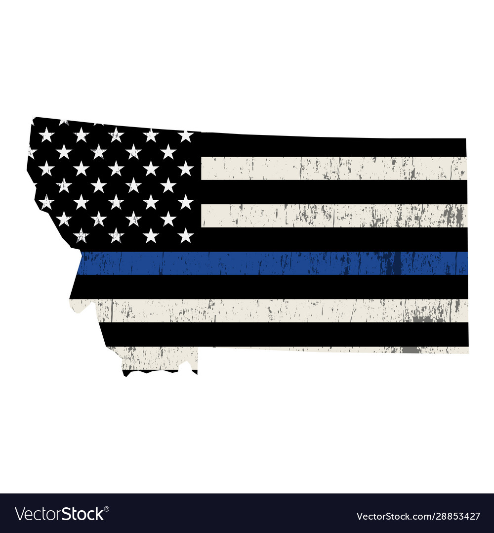 State montana police support flag