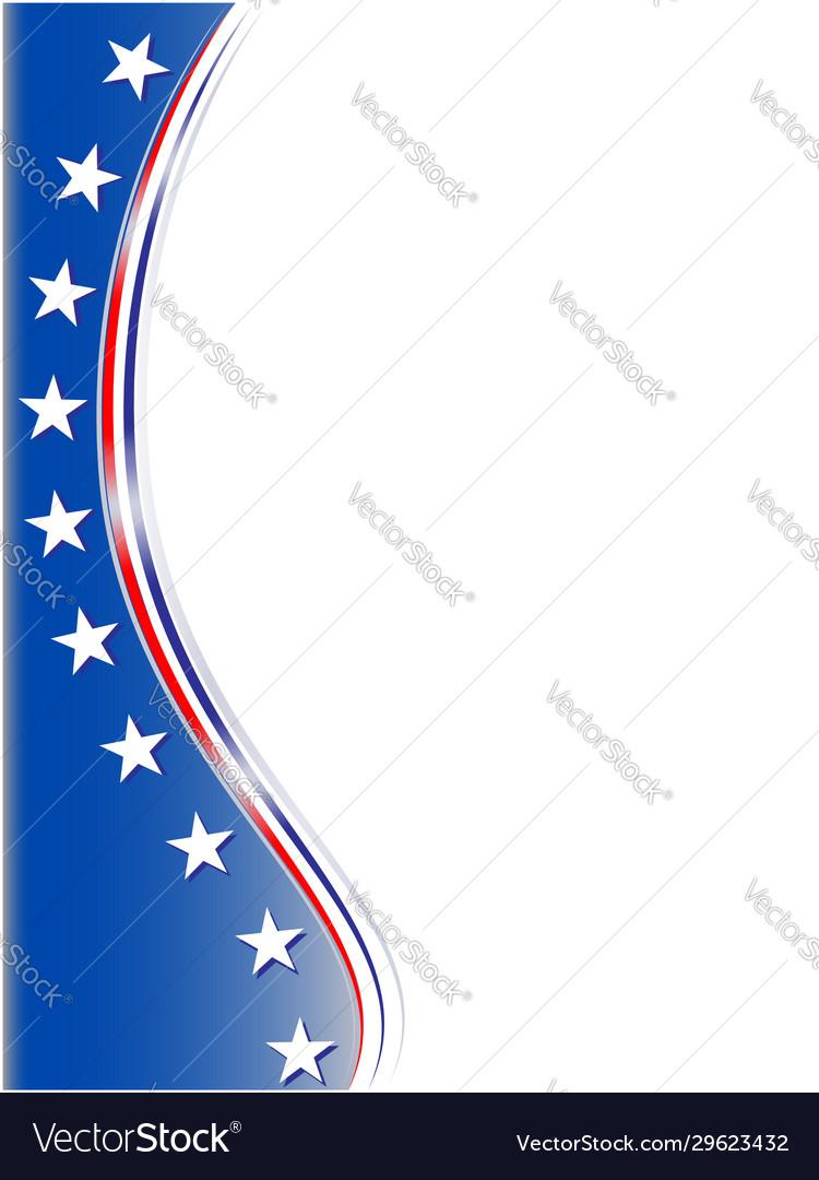 American abstract flag symbol corner frame