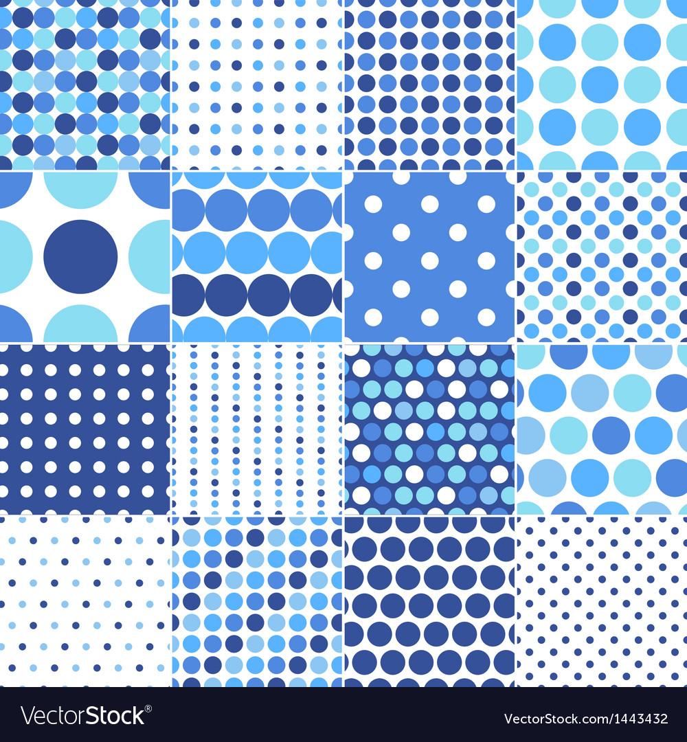 Circular polka dots background texture