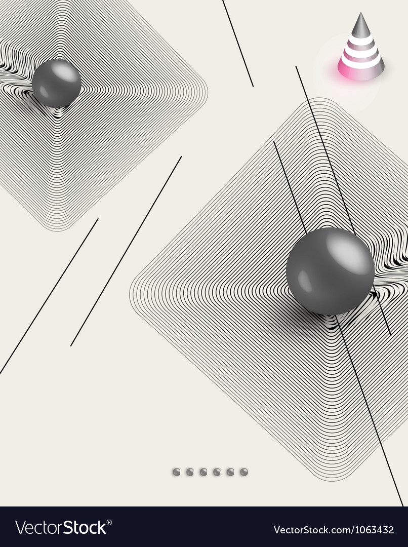 Futuristic abstract poster