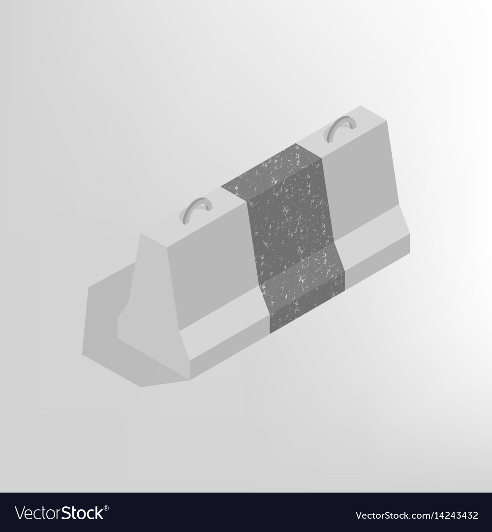 Iron concrete block isometric vector image