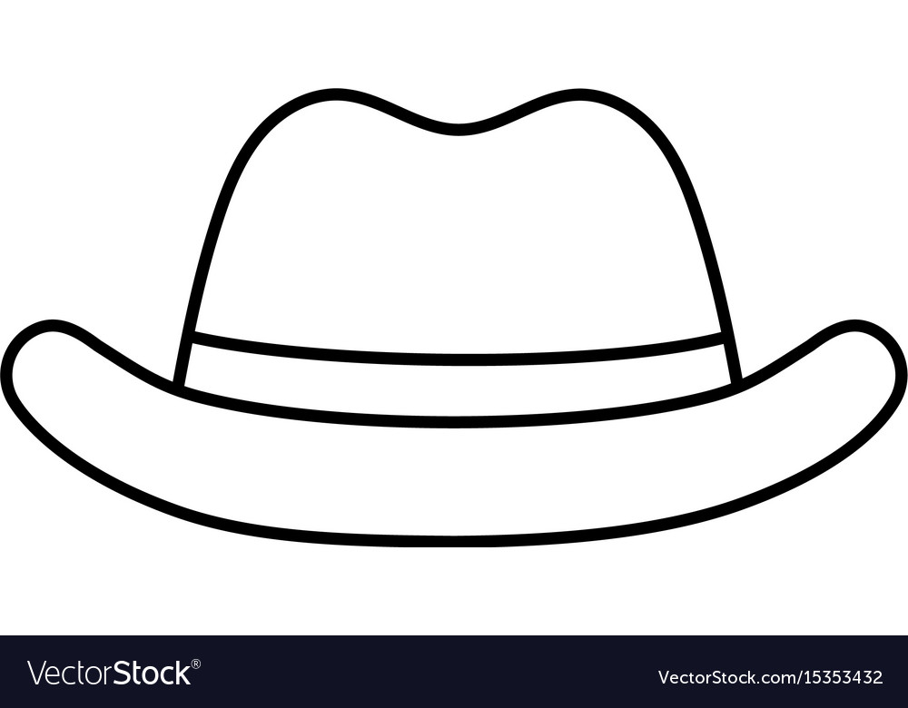 Line elegant hat to use in the head vector image