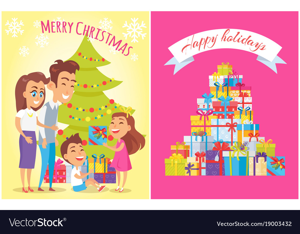 merry christmas happy birthday vector image - Merry Christmas And Happy Birthday