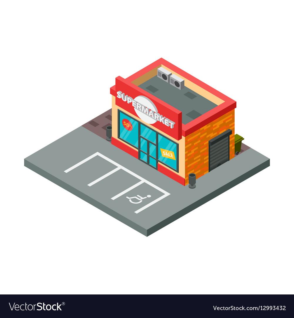 Supermarket and store stuff isometric