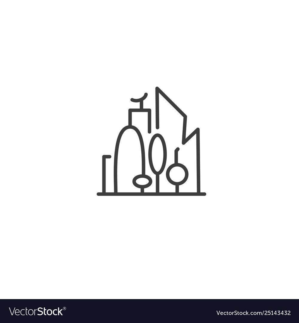 Urban and city element icon - skyscrapers and