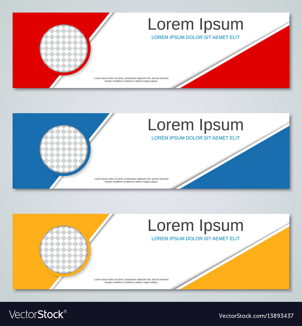Abstract colorful banners templates