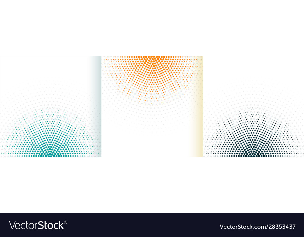 Abstract halftone white background set in three