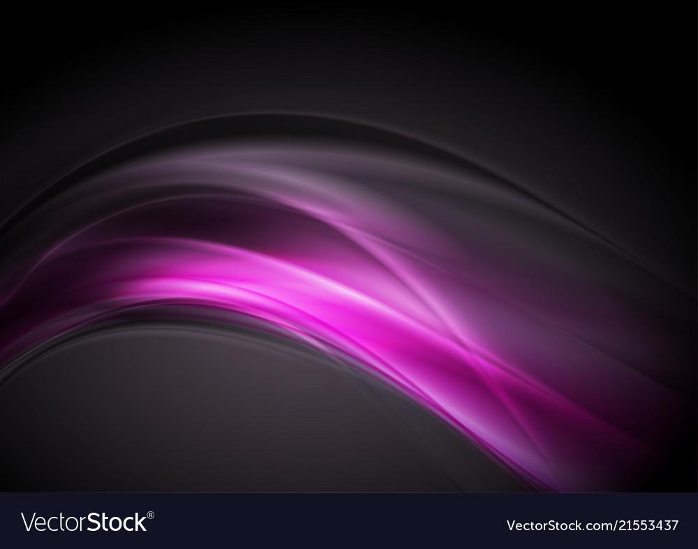 Dark purple glowing waves abstract background