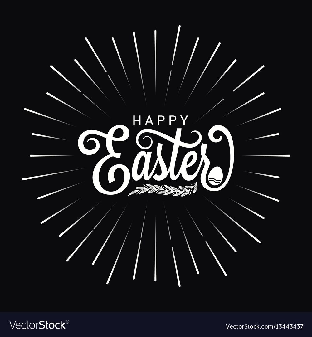 Easter vintage lettering star burst design