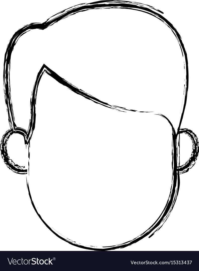 Man profile cartoon faceless person character