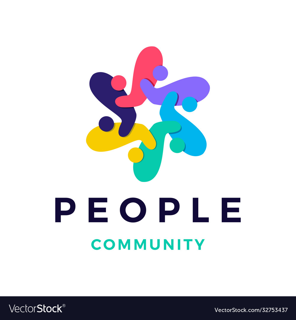 People family community overlapping color logo