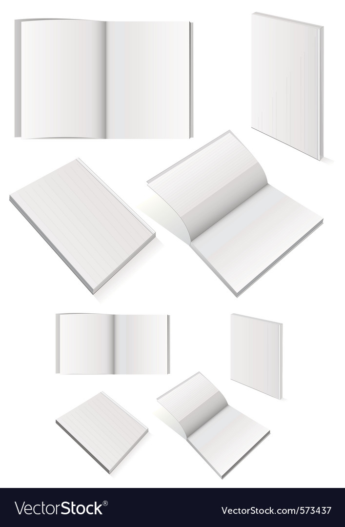 Set of books with softcover vector image