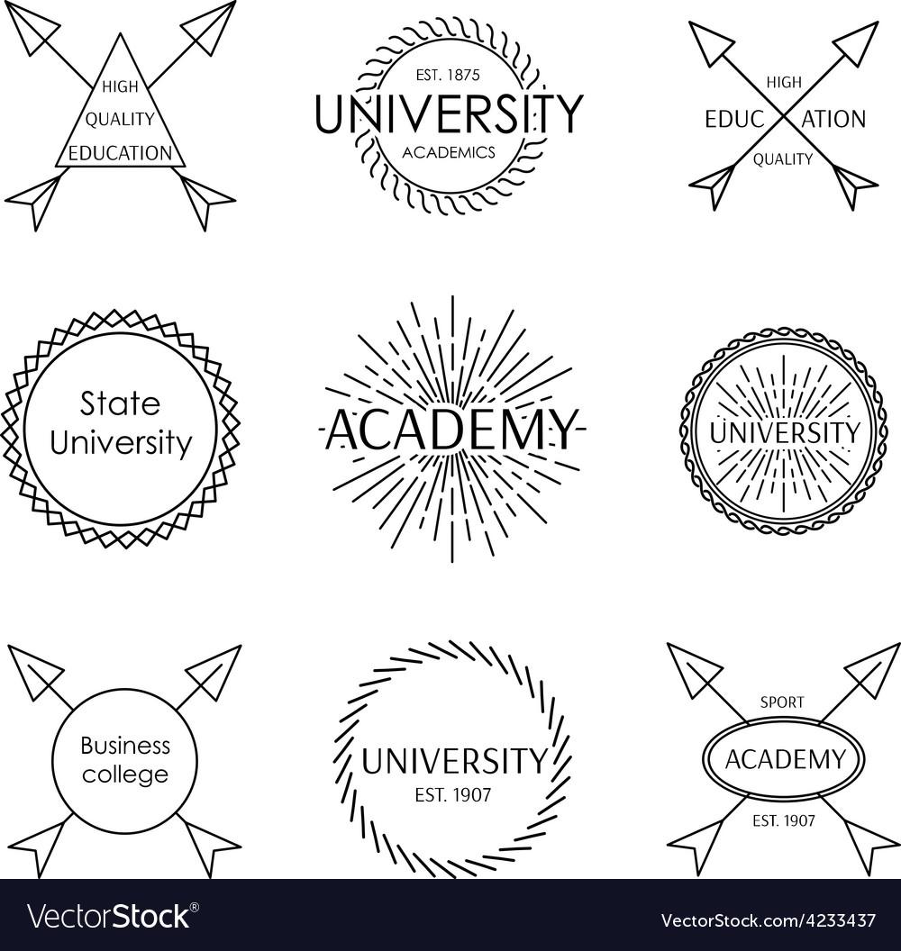 Set of emblem