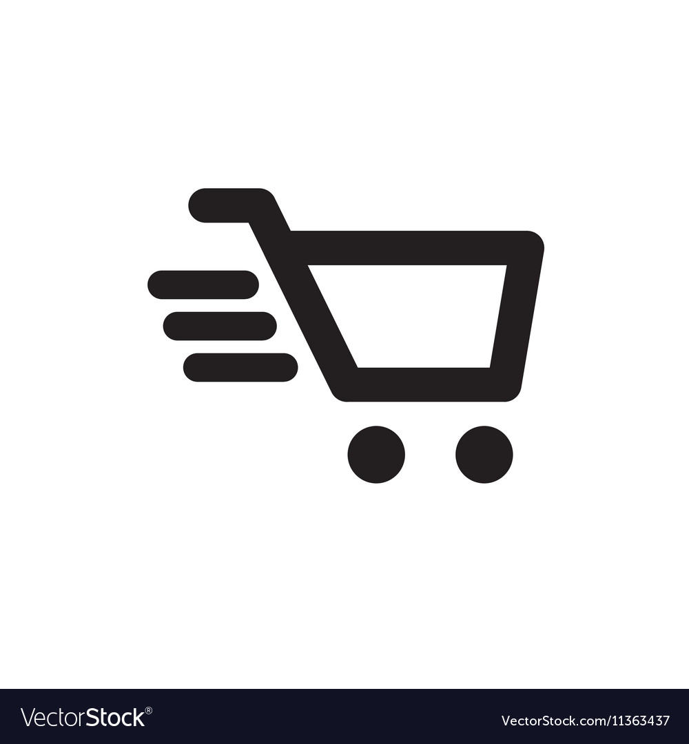 shopping cart icon royalty free vector image vectorstock rh vectorstock com shopping cart vector icon shopping cart icon vector psd