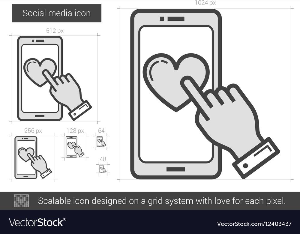 Social media line icon