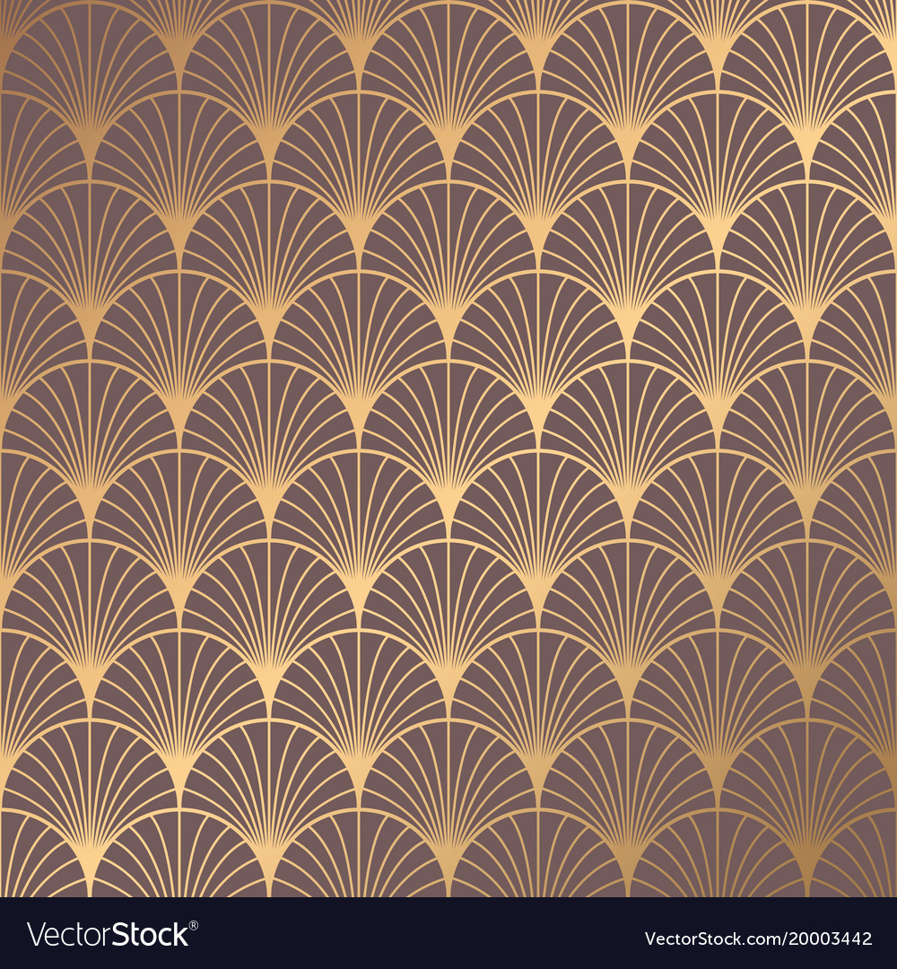 Art deco pattern Royalty Free Vector Image - VectorStock