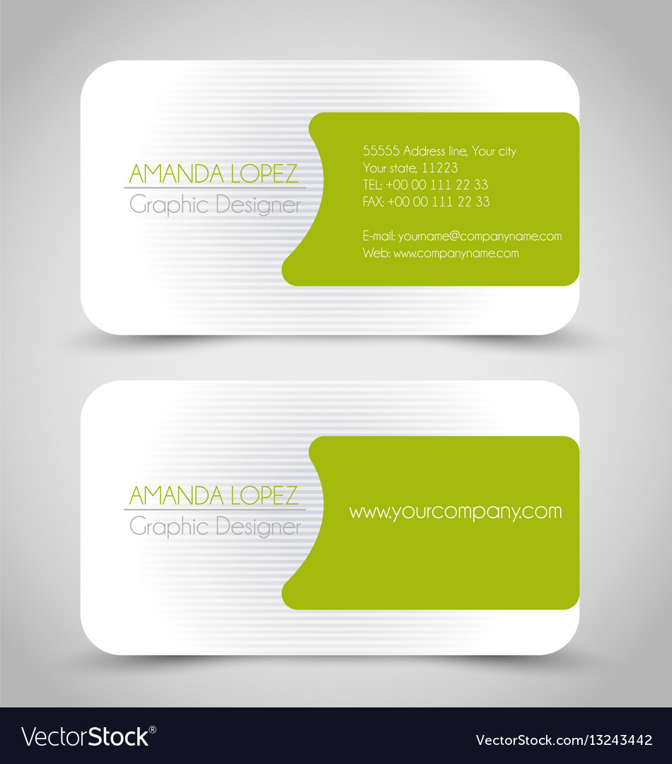 Business card design set template royalty free vector image business card design set template vector image reheart Image collections