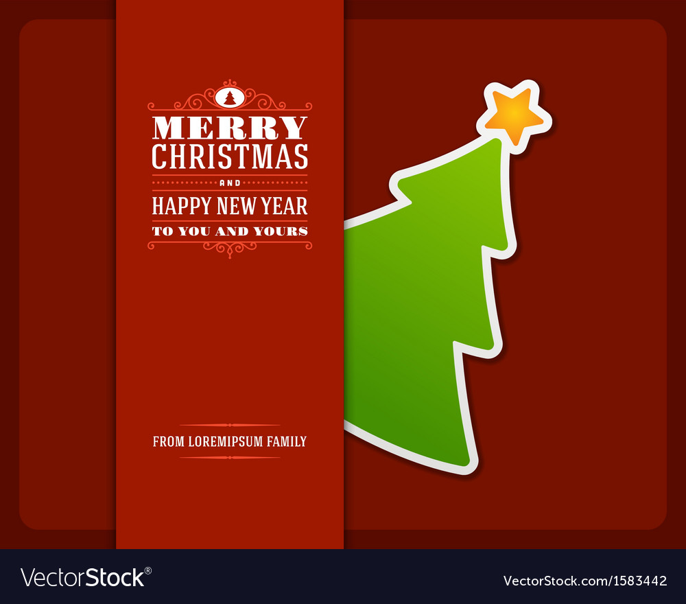 Christmas Green Tree Invitation Card