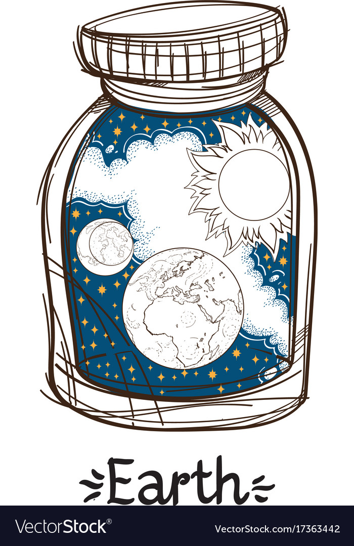 Earth in a glass jar the planet of the solar