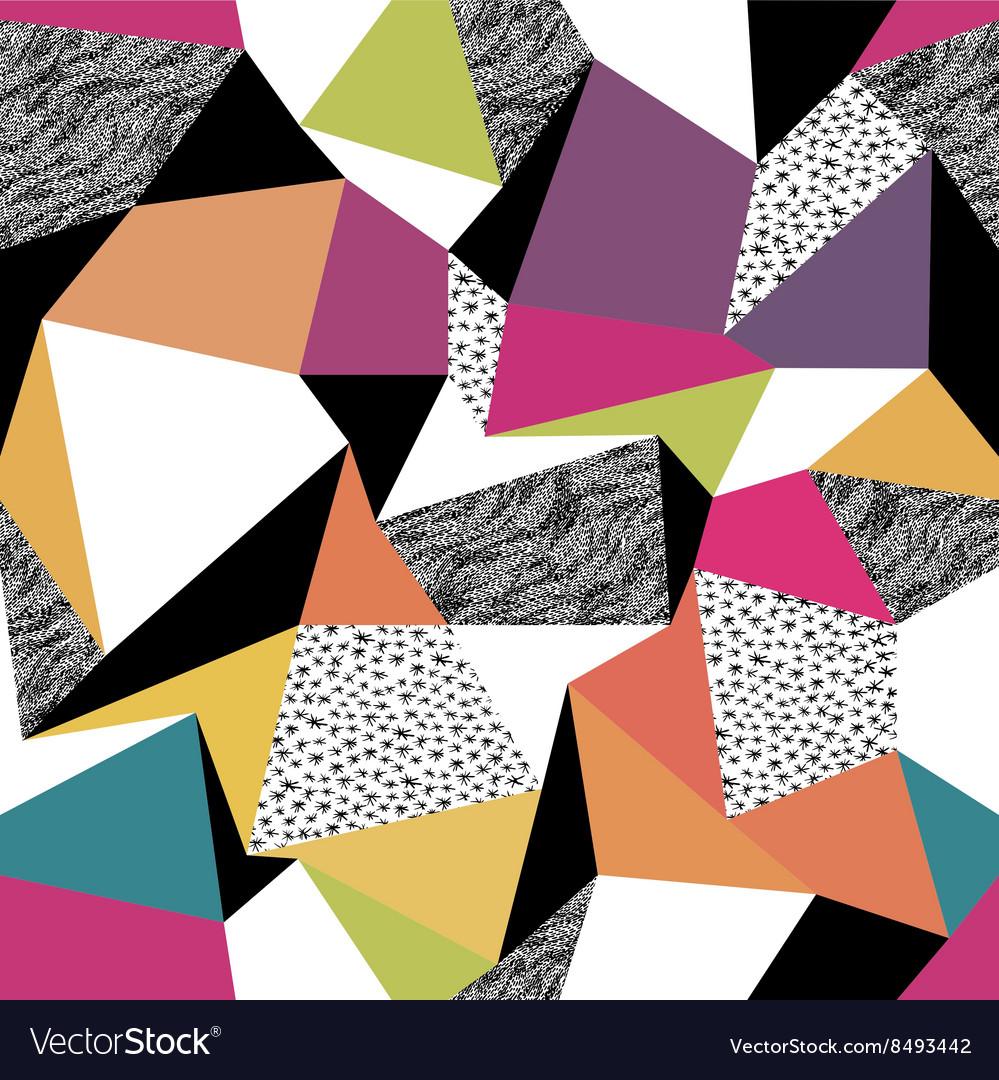 Geometric seamless pattern in retro style Vintage
