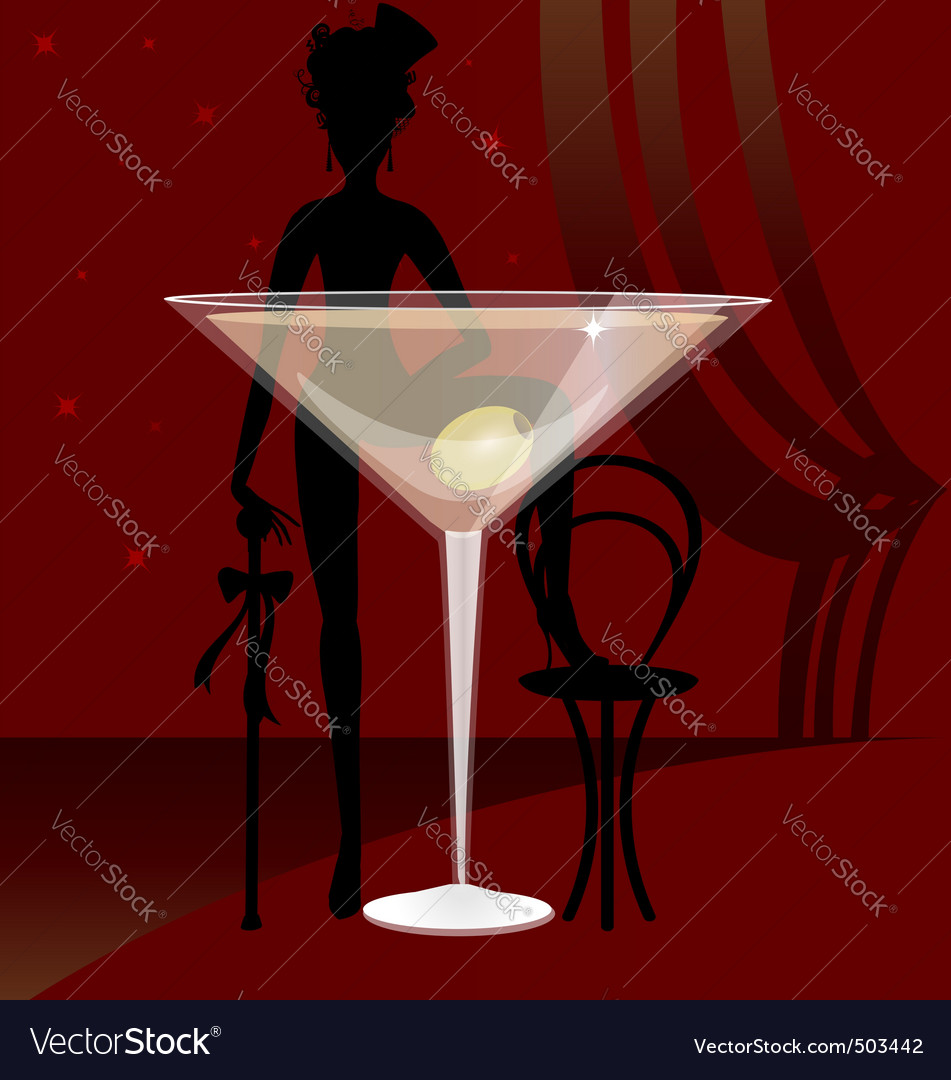 Glass of vermouth vector image