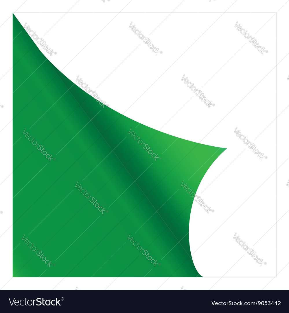 Green sicker vector image