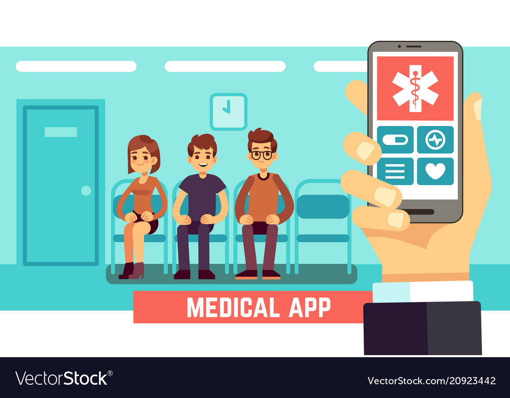 Medical phone mobile app healthcare and hospital