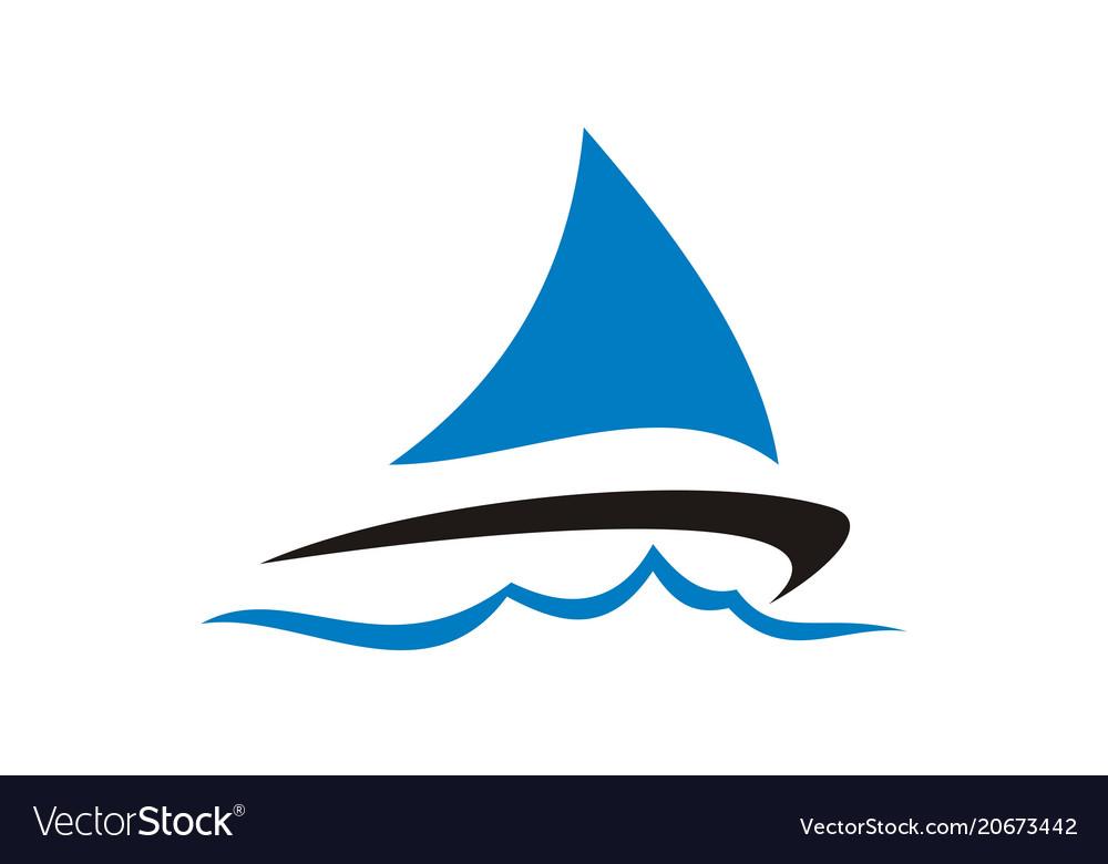 sailboat logo design template royalty free vector image