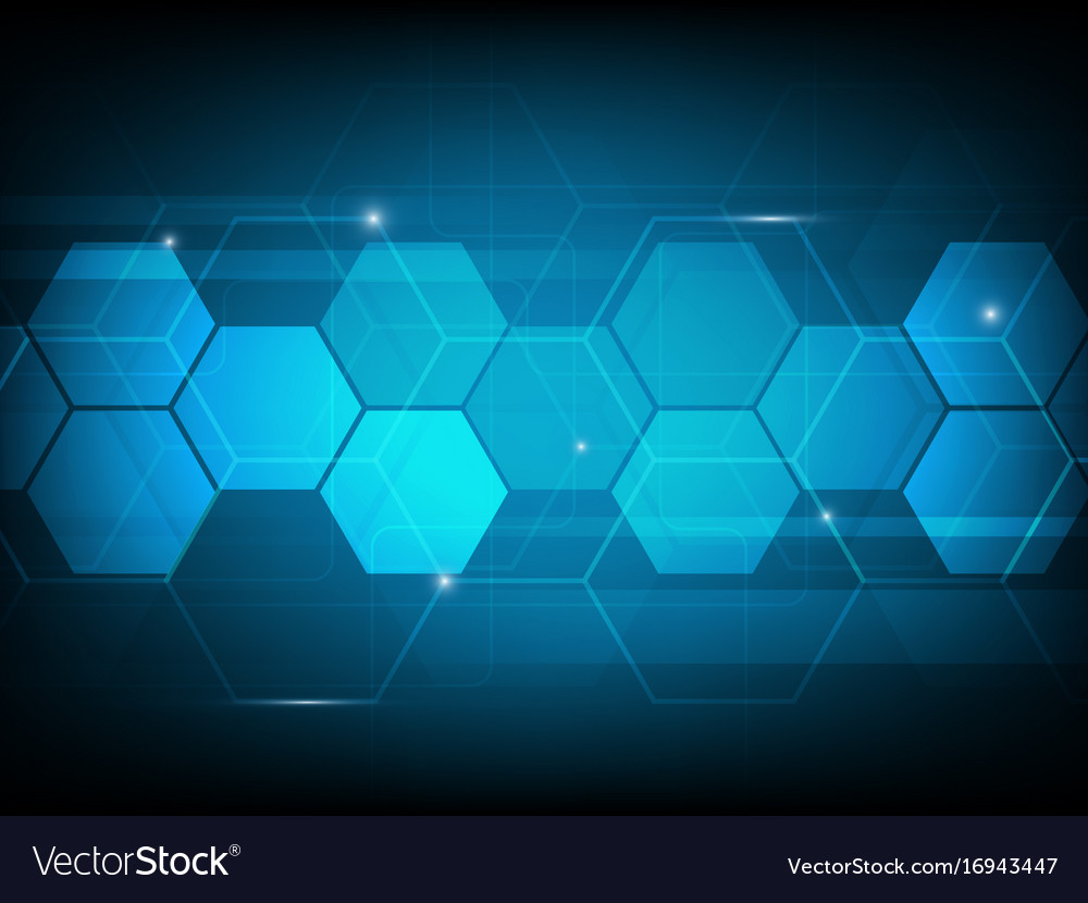Abstract hexagon digital technology background vector image