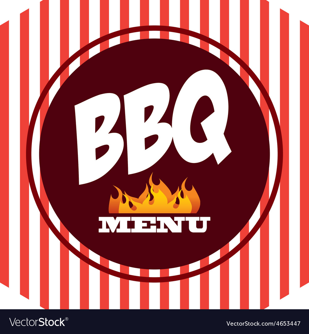 Bbq label vector image