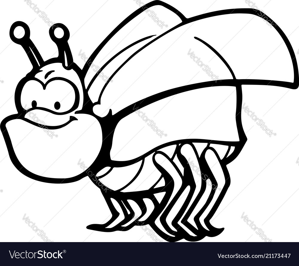 Cute and funny bugs animal cartoon character vector image