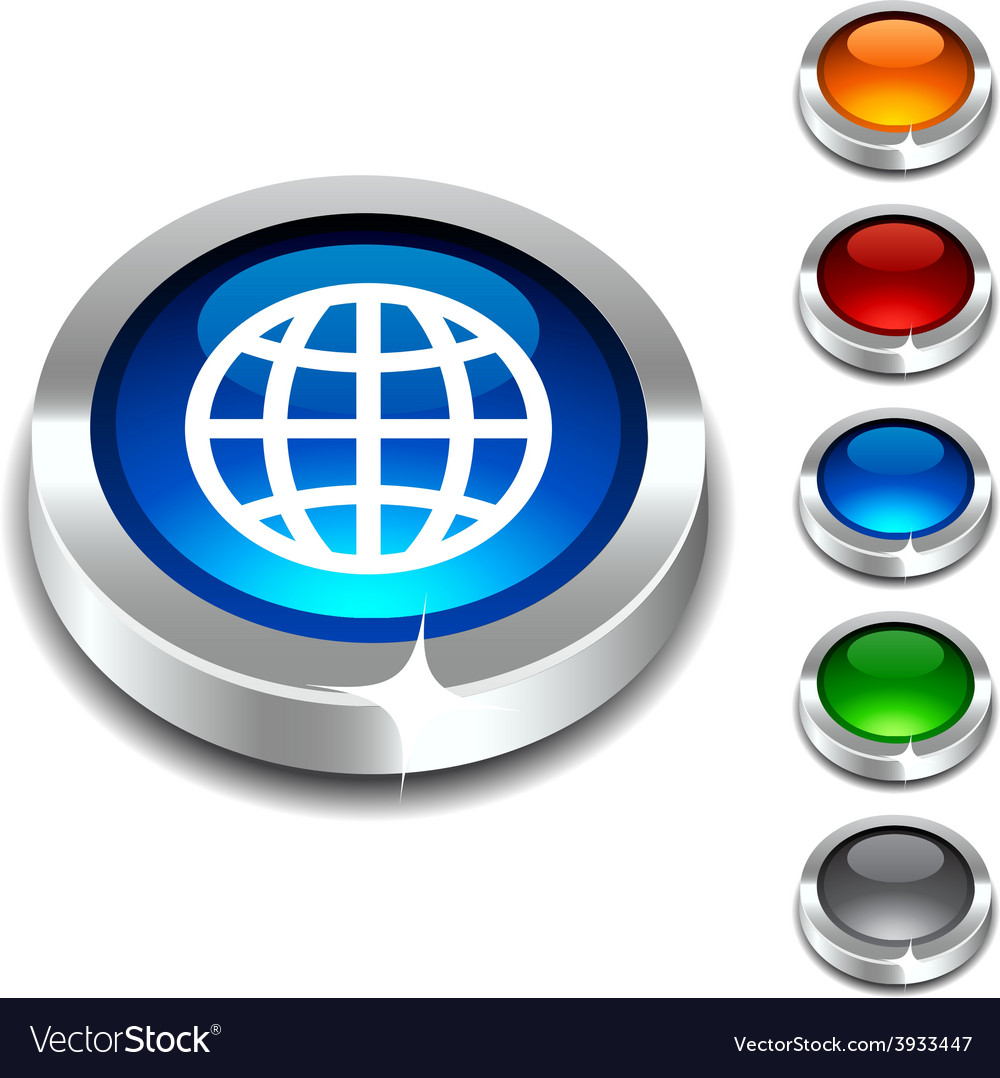Earth 3d button