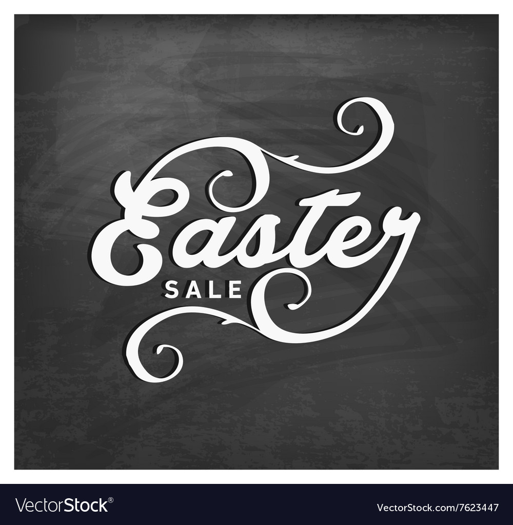Easter Sale Typographical Text on Chalkboard
