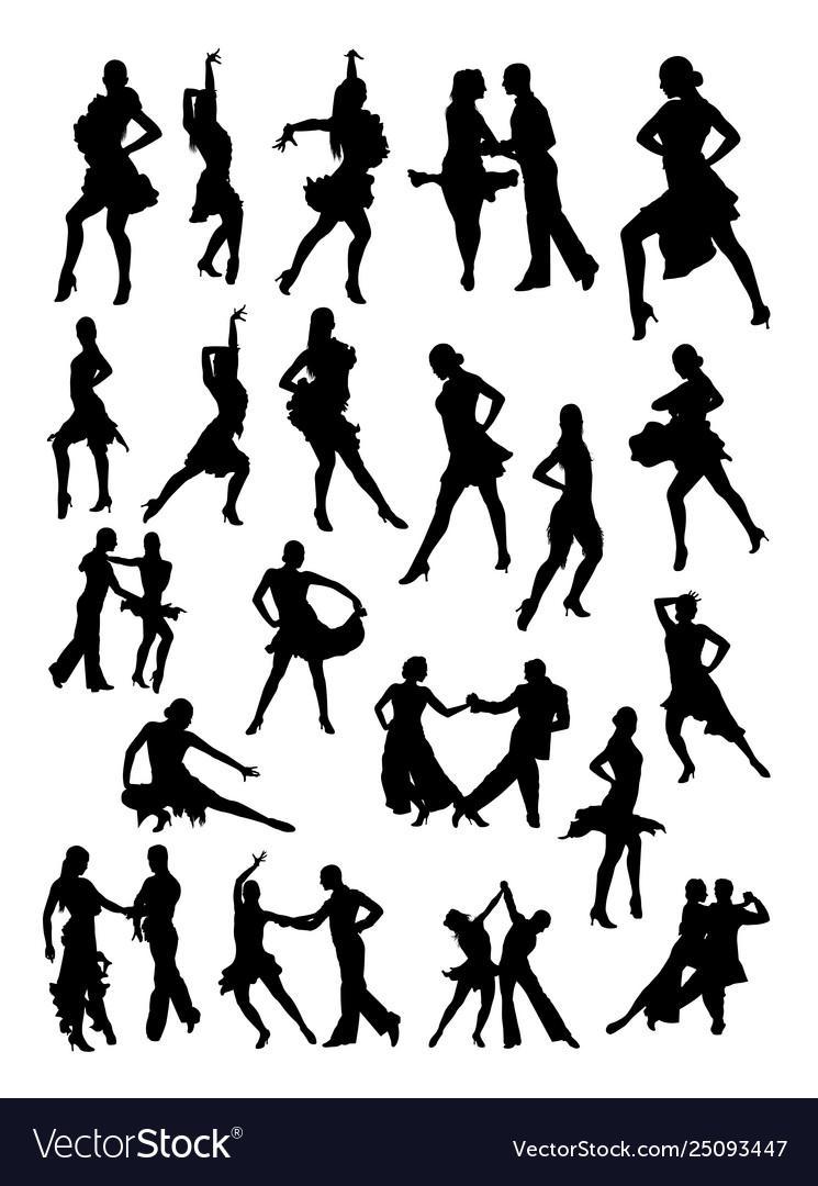 Salsa dancer silhouette