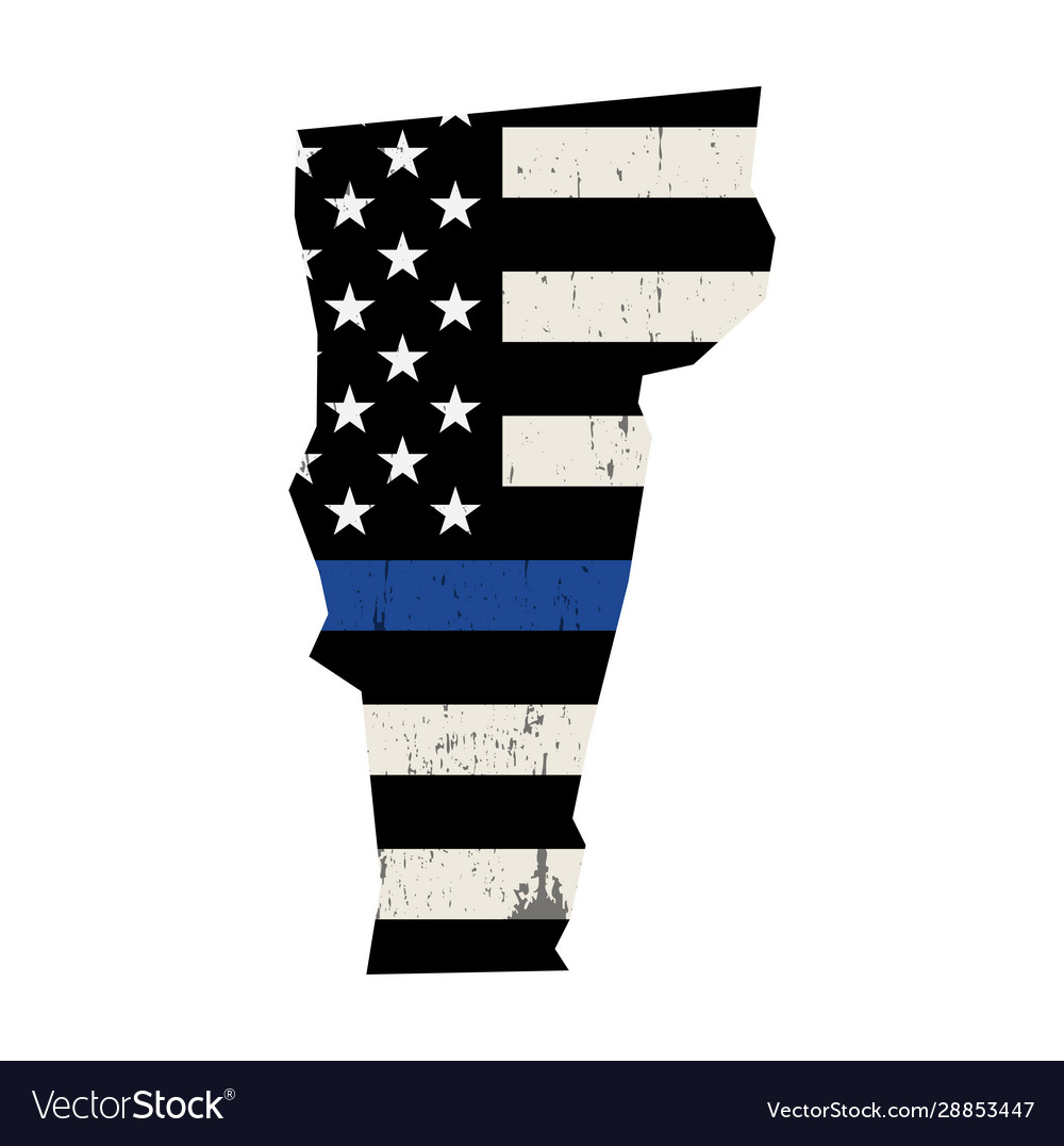 State vermont police support flag