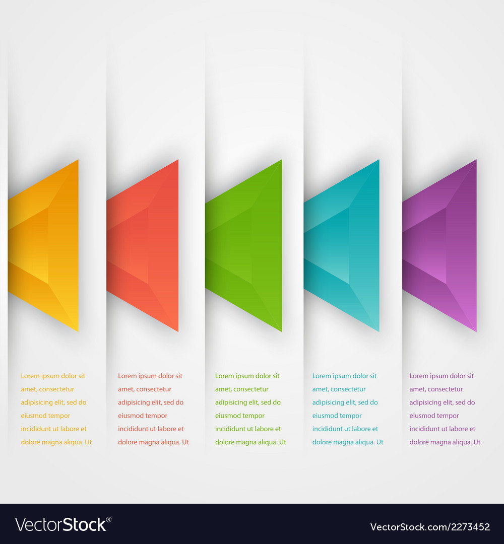 Abstract triangles template Object web