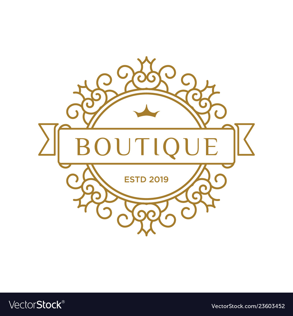Boutique luxury logo design inspiration in gold
