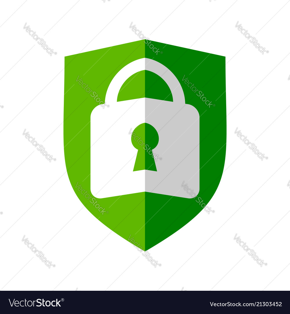 lock folded shield symbol design royalty free vector image