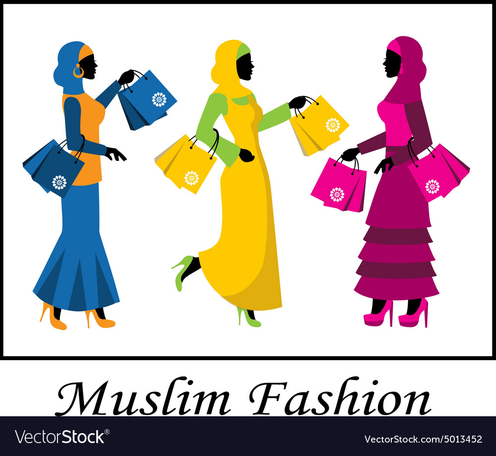 muslim fashion royalty free vector image vectorstock rh vectorstock com fashion vector art fashion factory