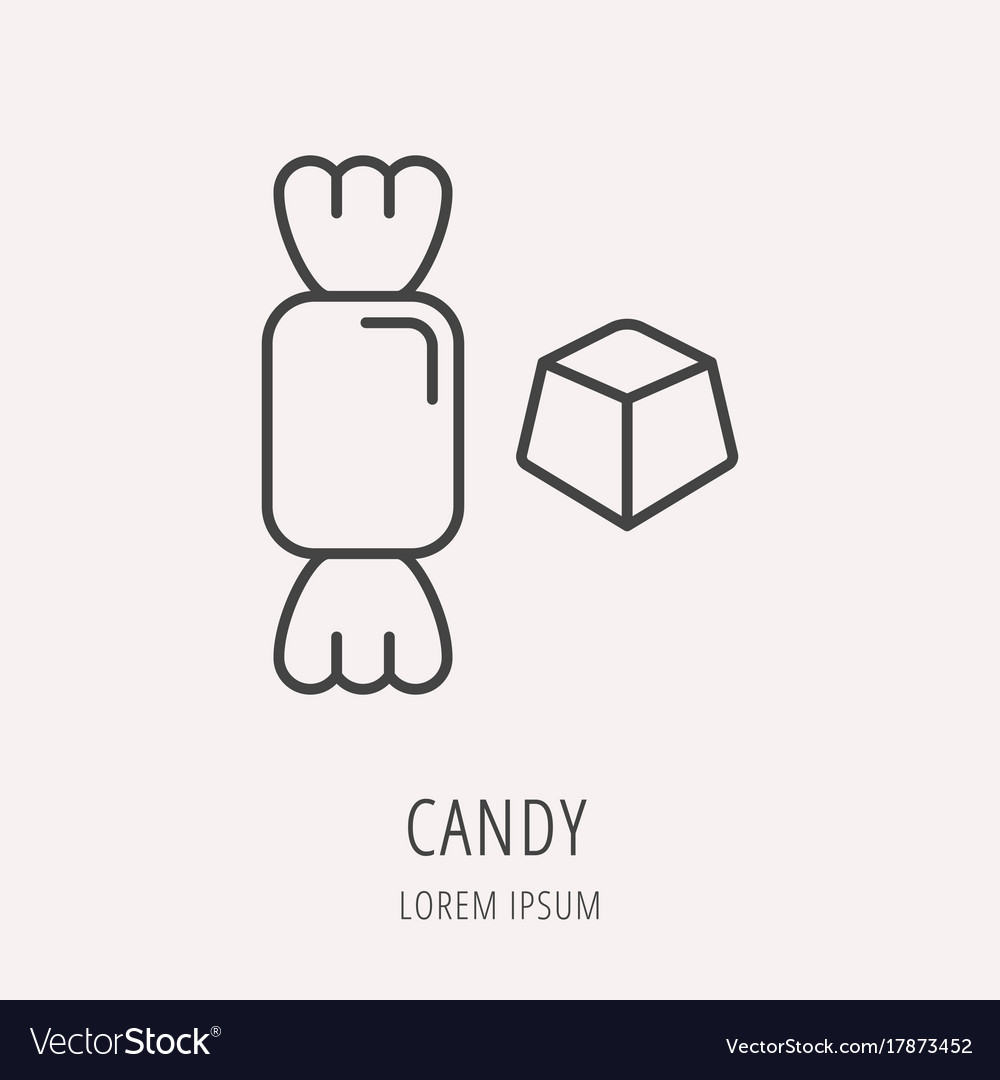 Simple logo template candy